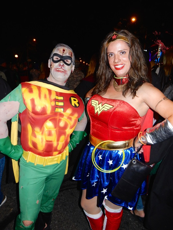 West Hollywood Halloween Dead Robin Wonder Woman costumes