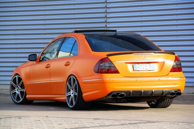 mercedes benz w211 e55 amg orange matte benztuning. Black Bedroom Furniture Sets. Home Design Ideas