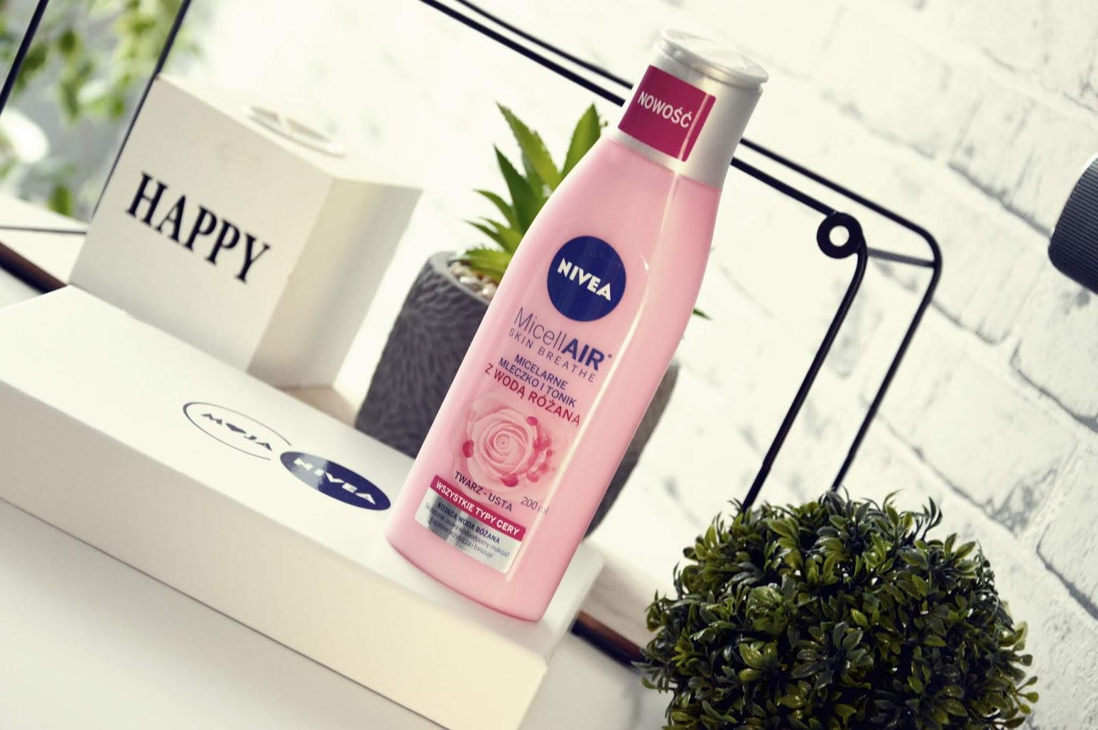 Micelarne mleczko i tonik z wodą różaną od NIVEA