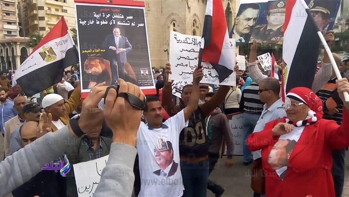 مظاهرات في الاسكندرية القائد البراهيم