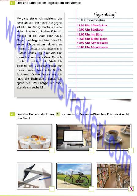 Almanca A1.2 Çıpa Yayınları Çalışma Kitabı Cevapları Sayfa 34