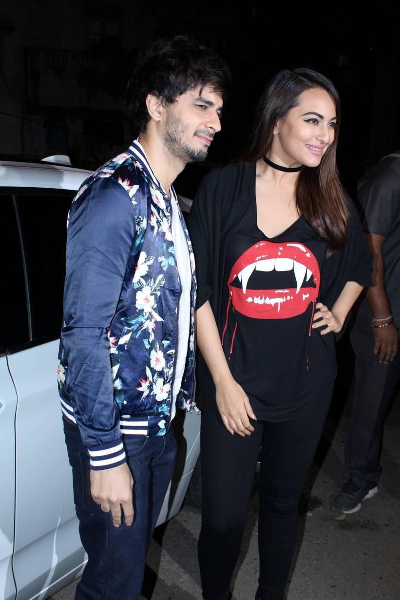 Bollywood Actress Sonakshi Sinha Stills At Success Party