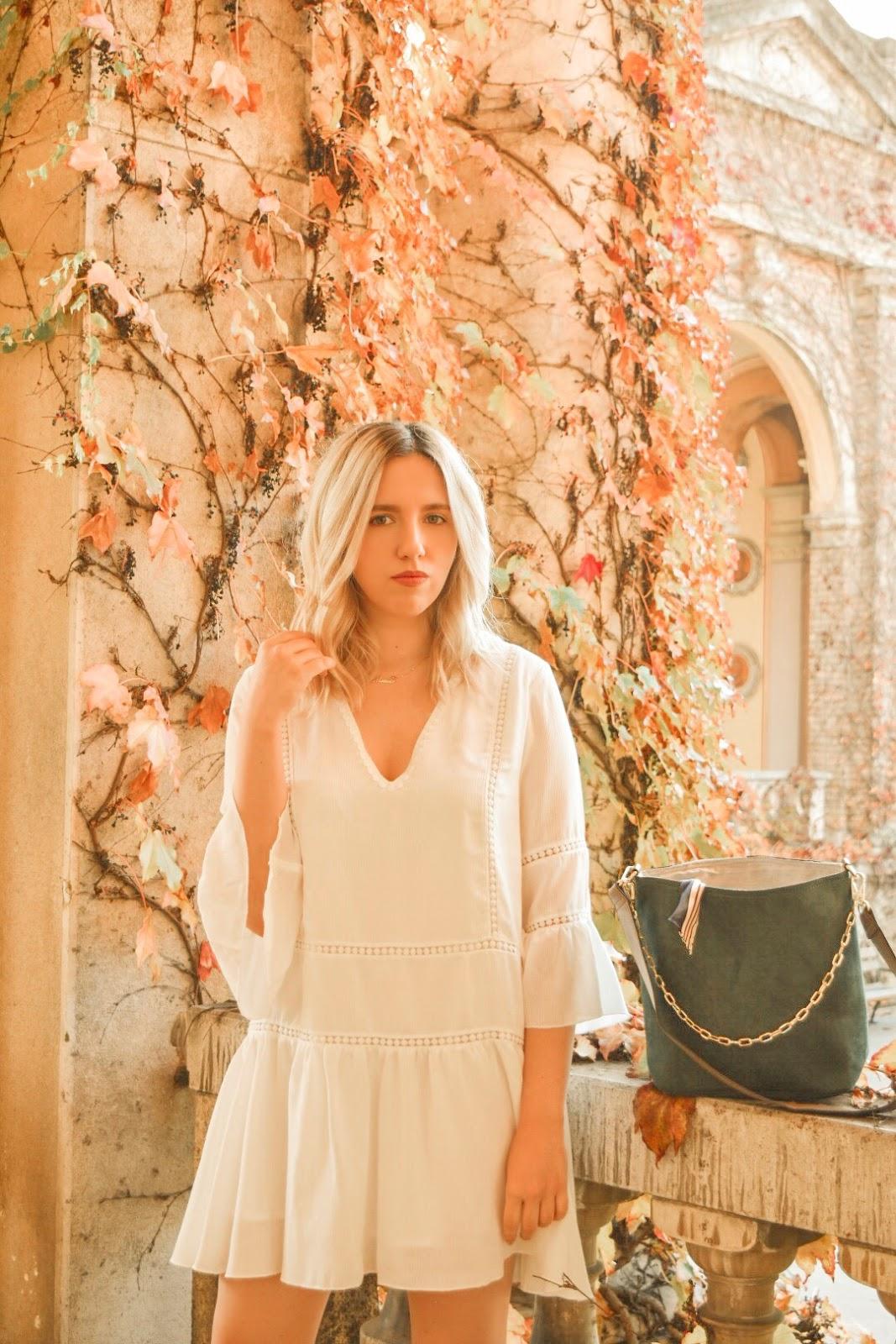 Yoins white dress