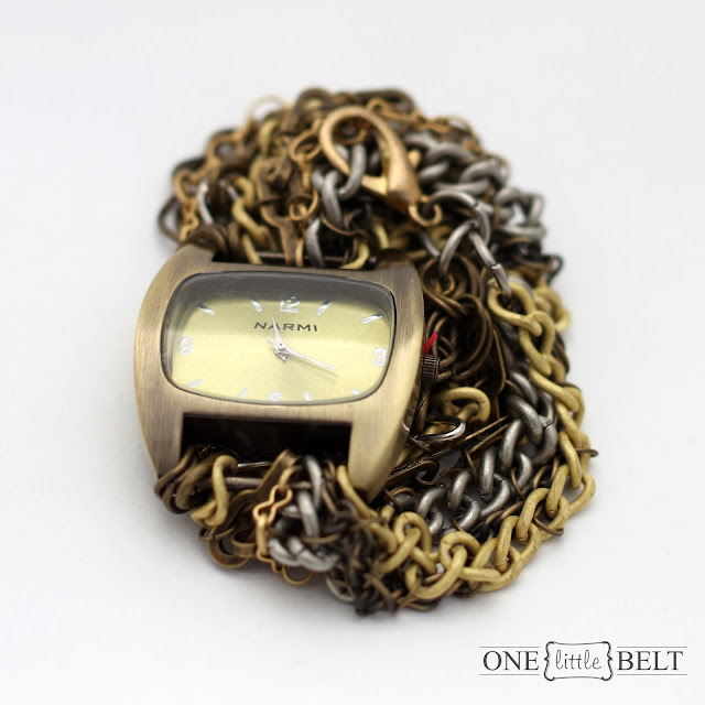 Stacked statement chain watches from ONE little MOMMA