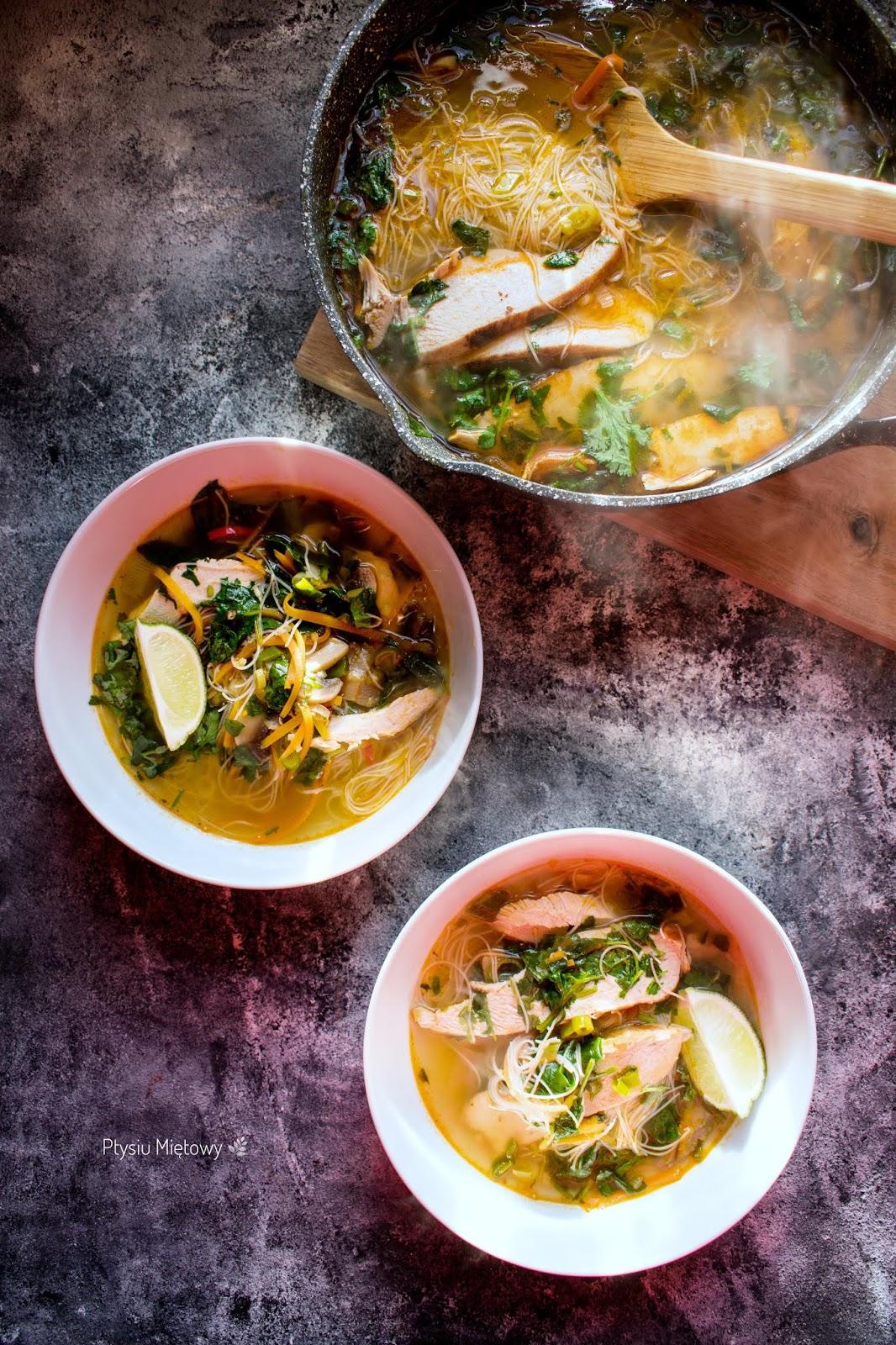zupa, tajskie, ptysiu mietowy