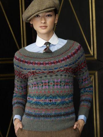 sweter zakardowy