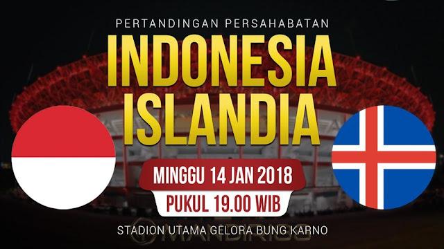 Prediksi Bola Indonesia Vs Islandia , Minggu 14 January 2018 Pukul 19.00 WIB @ RCTI