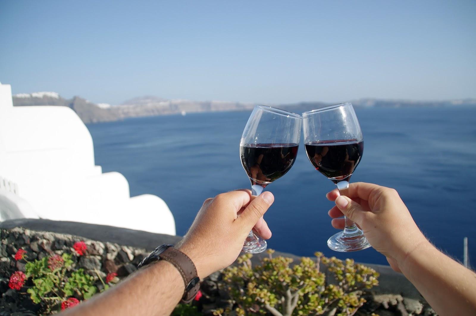 Wine Time in Oia Santorini