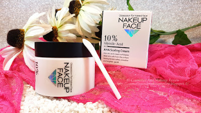 NAKEUP FACE - 10% Glycolic Acid AHA Scaling Cream 50ml