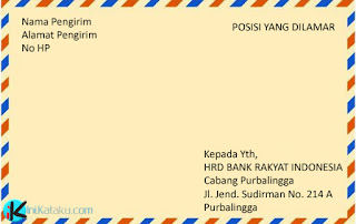Contoh Surat Lamaran Kerja Untuk Melamar di Bank yang baik dan benar sesuai dengan format terbaru 2017/2018