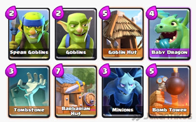 Kumpulan Battle Deck Clash Royale Arena 3 Terbaik (Winning Strategy) Defensive