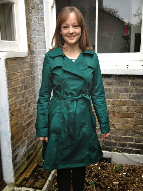 Diary of a Chainstitcher Forest Green Sewaholic Robson Coat Sewing Pattern