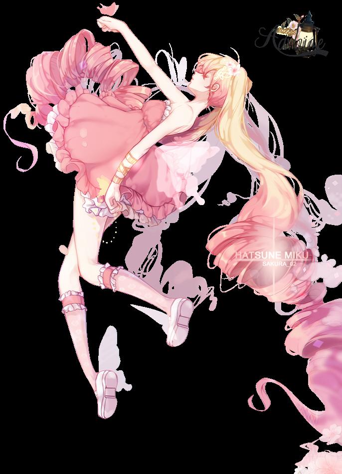 render miku hatsune pink