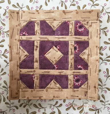 Dear Jane Quilt - Block E7 Bread Basket