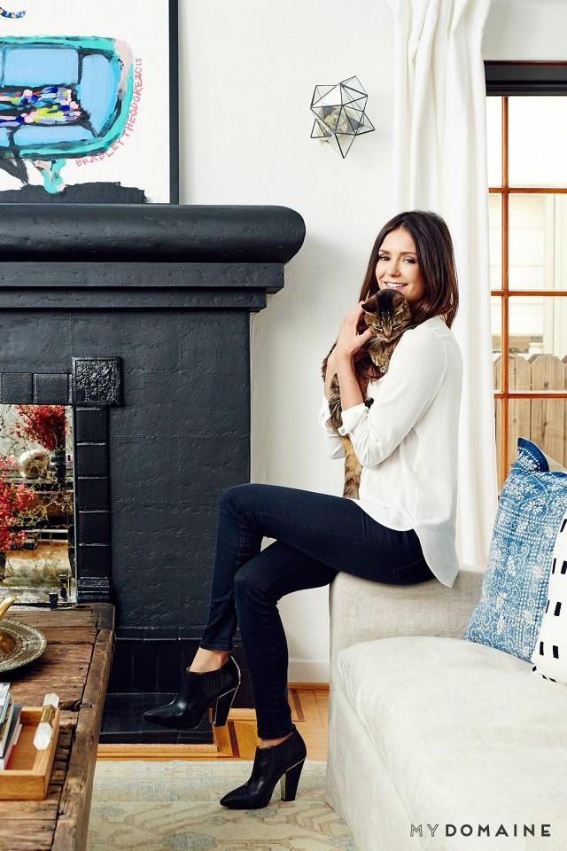 Nina Dobrev's Living Room