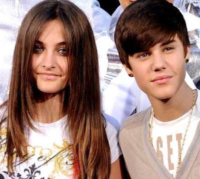 Foto de Justin Bieber junto a la hija de Michael Jackson