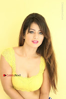 Cute Telugu Actress Shunaya Solanki High Definition Spicy Pos in Yellow Top and Skirt  0168.JPG