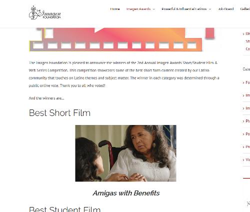 Amigas Imagen Award