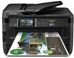 Epson WorkForce WF-7620 Wireless Color All-in-One Inkjet Printer with Scanner and Copier image, Epson WorkForce WF-7620 Wireless Color All-in-One Inkjet Printer with Scanner and Copier support