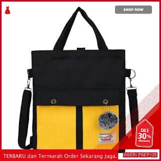 BAG537 TAS TOTEBAG SAKU DUA | BMGShop