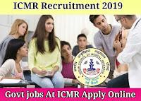 ICMR Recruitment 2019 - 01 DEO Posts