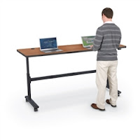Standing Height Training Room Table