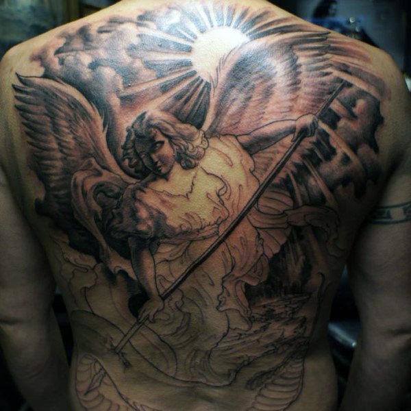 3e3f52ab1f41f 200+ Small Angel Tattoos For Men (2019) | Tattoo Ideas 2019