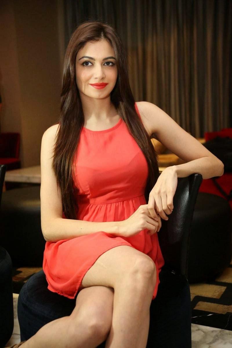 , Simran Kaur Mundi Long Legs hot Pics in Red short Dress & Boots