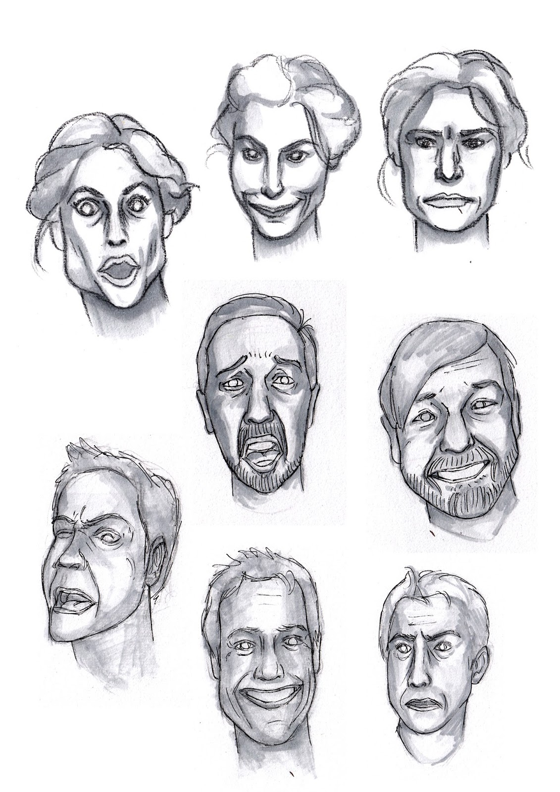 Julia Young Animation Faces