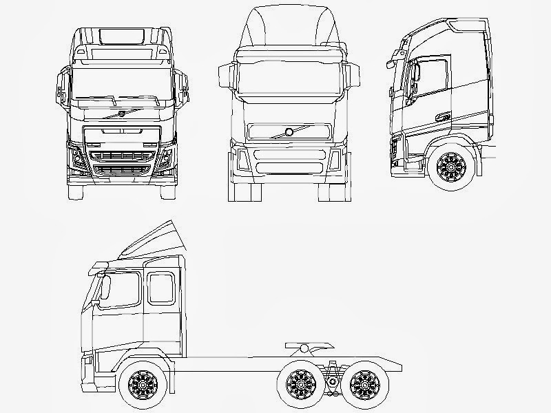 Blueprints Trucks Volvo Volvo Fh 16 Globetrotter Xl