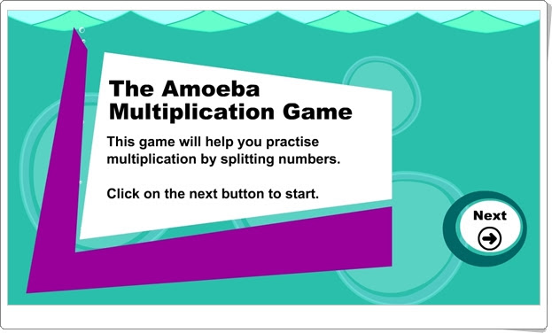 """The Amoeba Multiplication Game"" (Juego de Matemáticas de Primaria)"