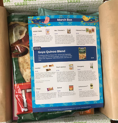 Degustabox is a subscription box that includes 10-15 food items each month, from a wide variety of categories. Every month is a new surprise, but you'll find snacks, beverages, and pantry items, too.