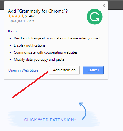 Grammarly free browser extension