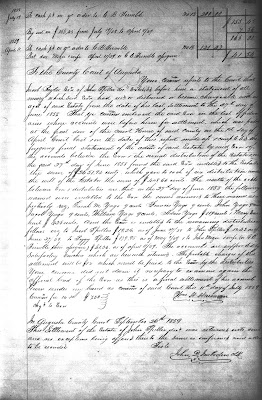 John Spitler Executor's Account, Will Book 37, page 225