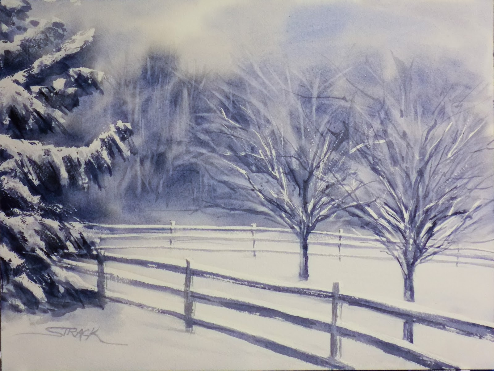 Painting Snowy Landscapes In Watercolor