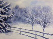 Annie Strack Painting Snowy Landscapes In Watercolor