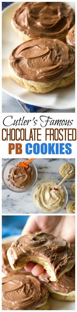 Cutler's Chocolate Frosted Peanut Butter Cookies
