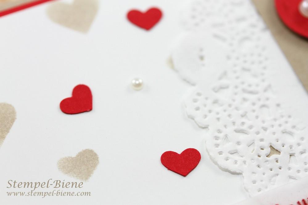 Bastelidee Hochzeitskarte, Bastelidee Hochzeitseinladung, Hochzeitseinladungen basteln, Stampin' Up Hochzeitsworkshop, Stampin Up Herzklopfen, Stamin Up bestellen, Stampin up Herbstworkshop
