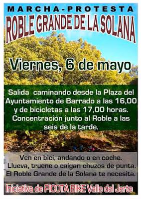"""Marcha Protesta """"Roble Grande de la Solana"""""""