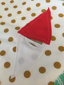 FMA Elf and Gnomes onto Fabric for Pillow Sham