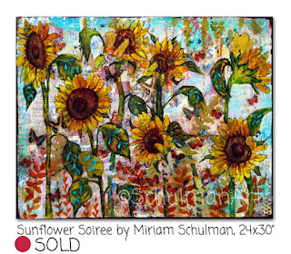 sunflower painting by miriam schulman | https://www.schulmanart.com