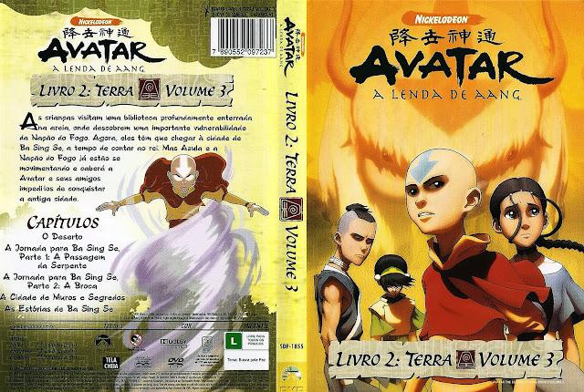 Capa DVD AVATAR A LENDA DE AANG LIVRO 2: TERRA VOLUME 3