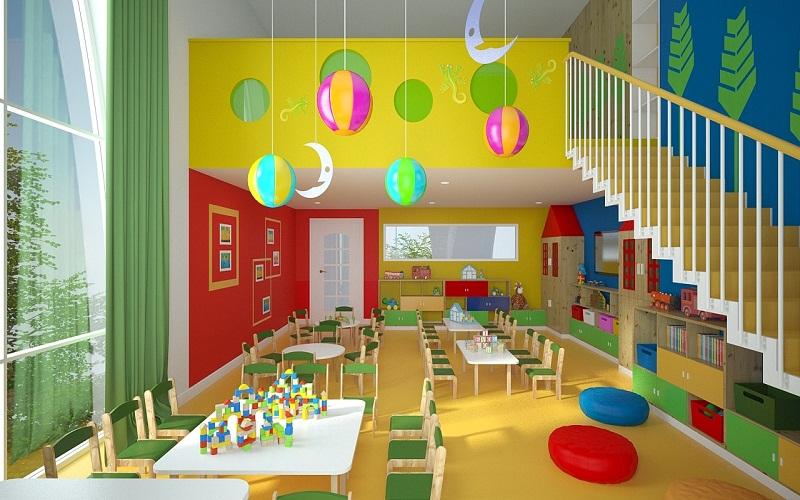 Nhà trẻ thiết kế không gian sáng tạo cho trẻ