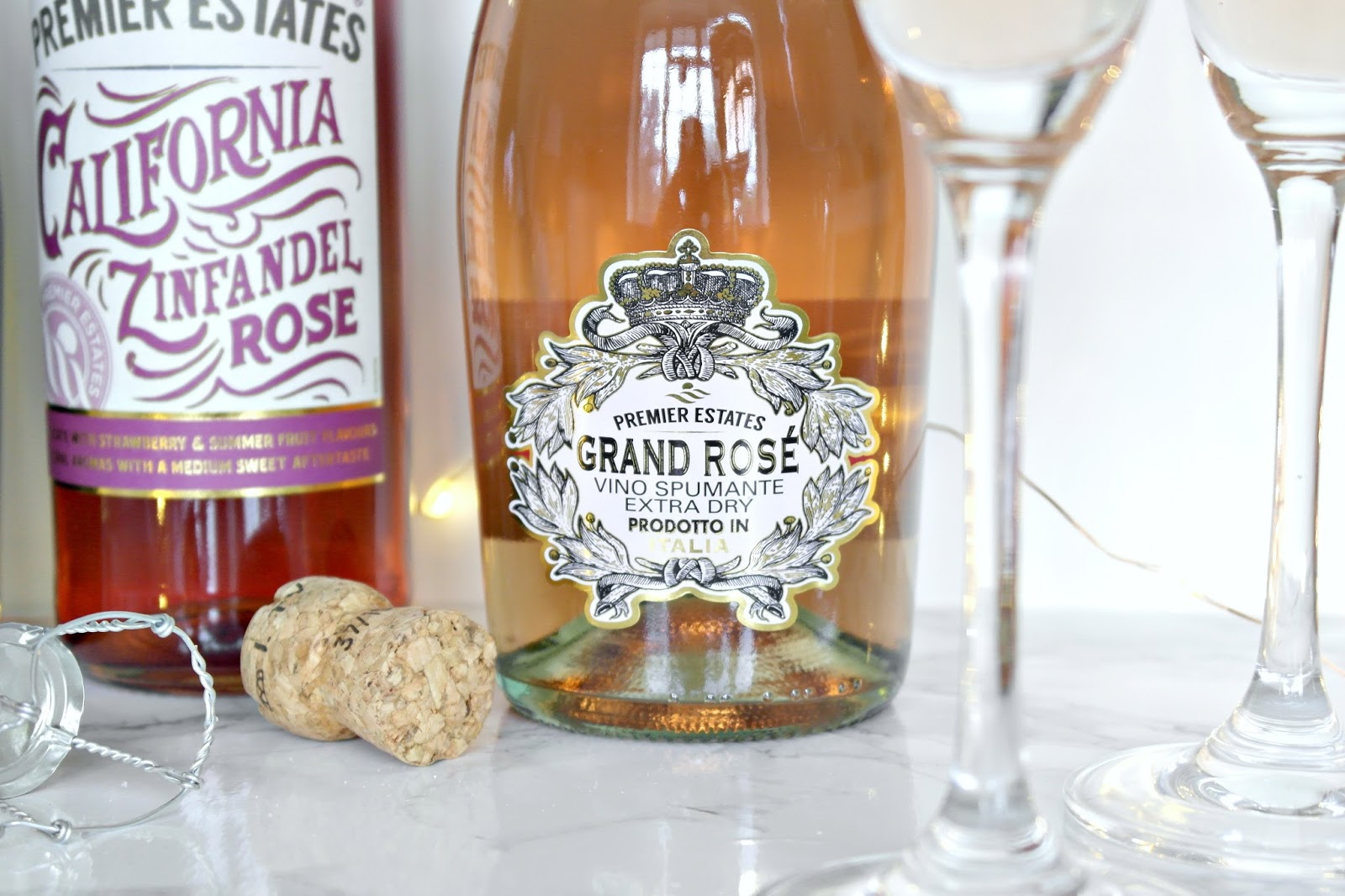 Premier Estates Grand Rose Sparkling Wine, Review, blogger