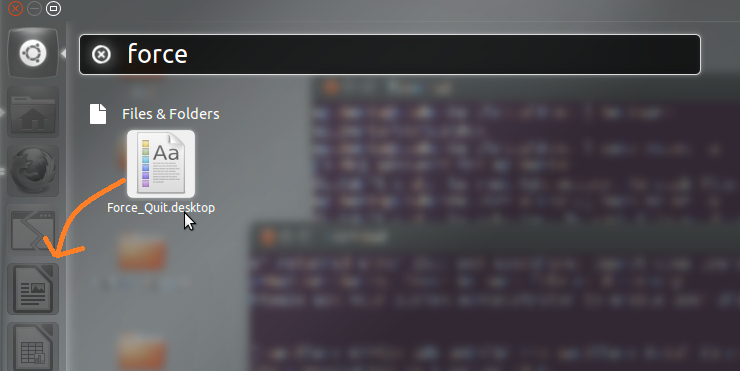 How To Add A Force Quit Icon To The Unity Launcher - Ubuntu