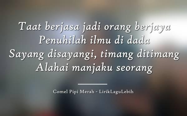 Comel Pipi Merah - Siti Nurhaliza