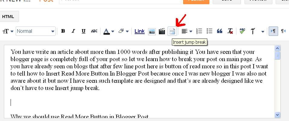 add auto read more button blogger blog posts