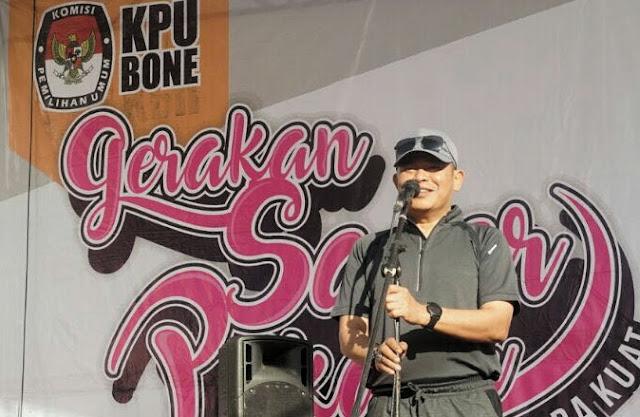 Lewat Jalan Sehat KPU, Pj Bupati Bone Sosialisasi Pilkada Aman dan Nyaman