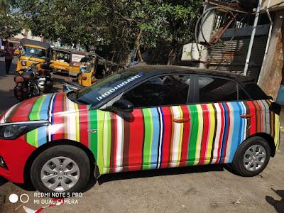 Elite I20 Vinyl Wrap | Car Wrapping Sticker | Car Accessories Modified