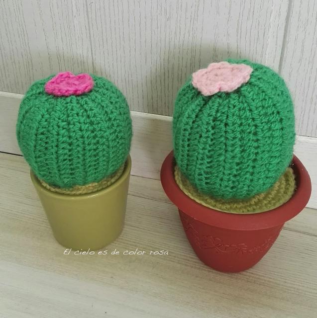cactus a ganchillo y crochet